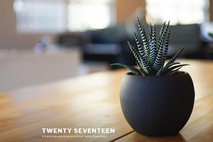4 trucos para personalizar Twenty Seventeen