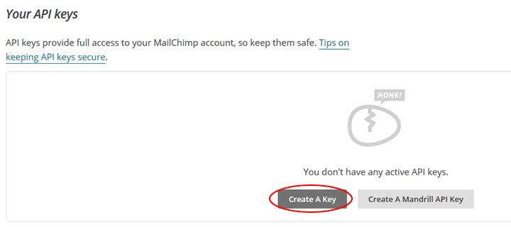 crear api key mailchimp