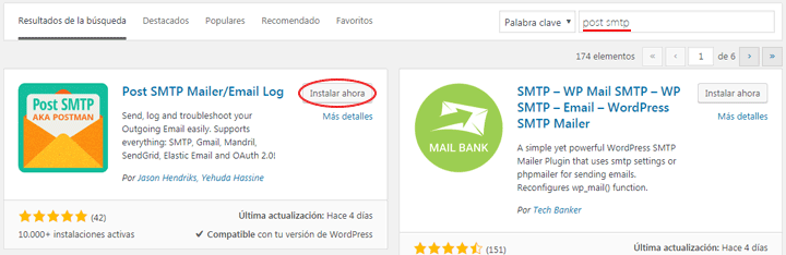 como instalar post smtp en wordpress
