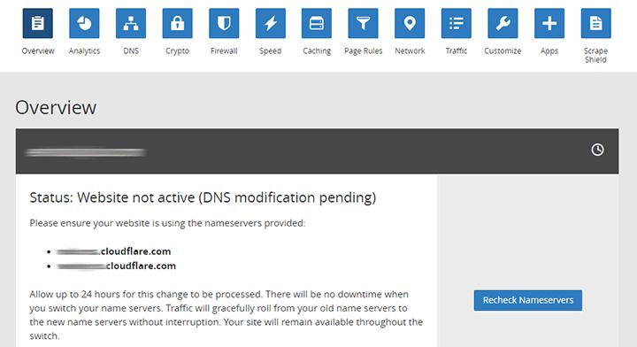 dns pendientes de agregar en cloudflare