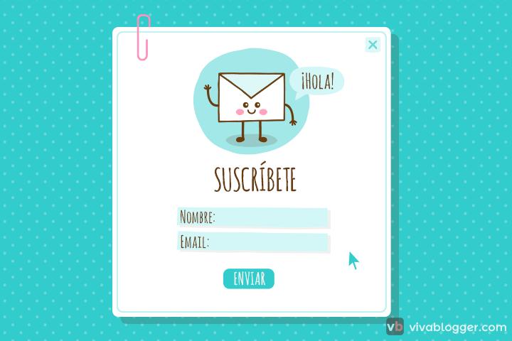 agregar un formulario de suscripción para enviar correos masivos
