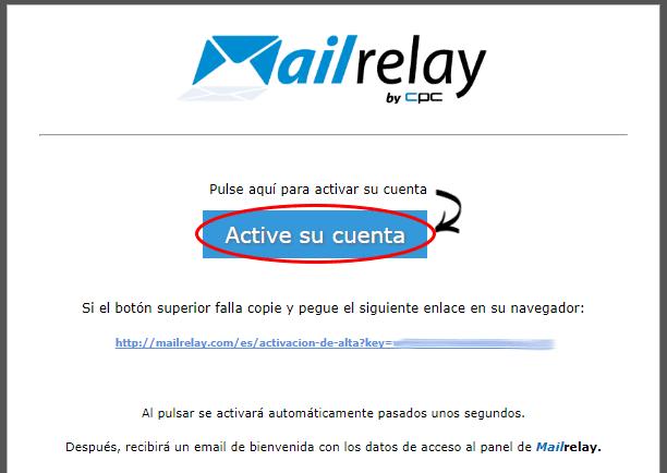 email para activar su cuenta