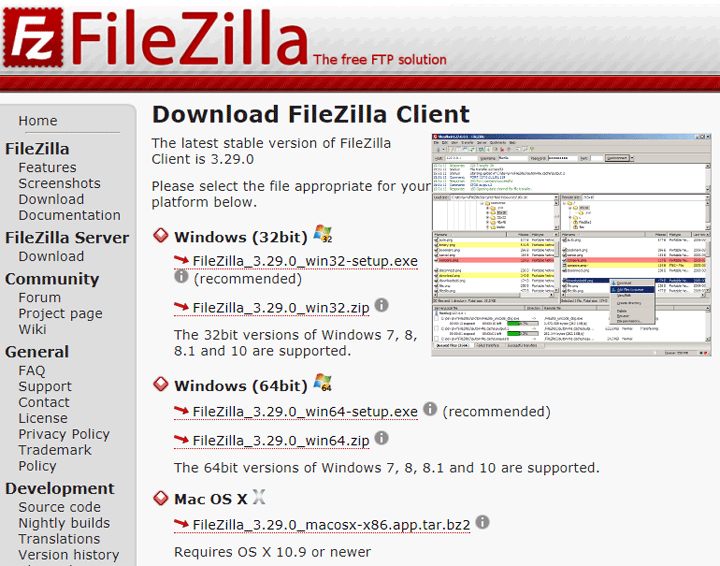 descarga de filezilla