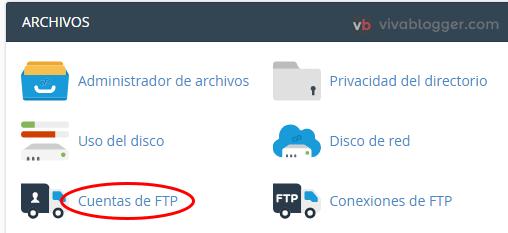 gestión de usuario ftp con cpanel