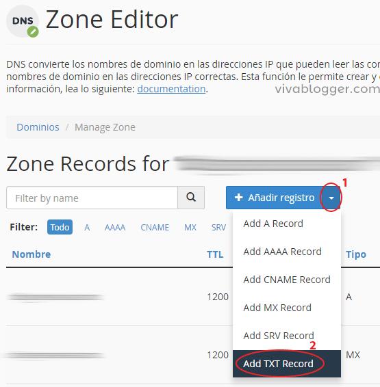 menu zone editor agregar registro mx