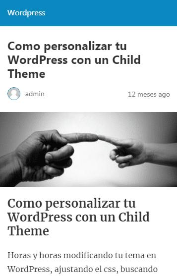 tema predeterminado de plugins amp de wordpress
