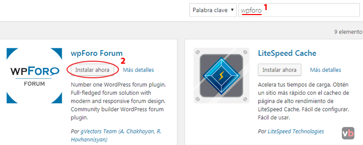 como instalar wpforo en wordpress