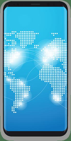 imagen de celular que es un hosting