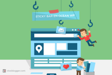 como agregar una sticky bar gratis en oceanwp de wordpress